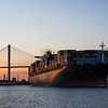 Outbound container ship - Savannah