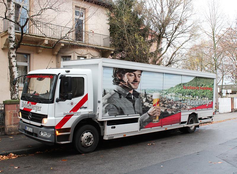 Germany, Heidelburg, Heidelberger Beer Delivery Truck