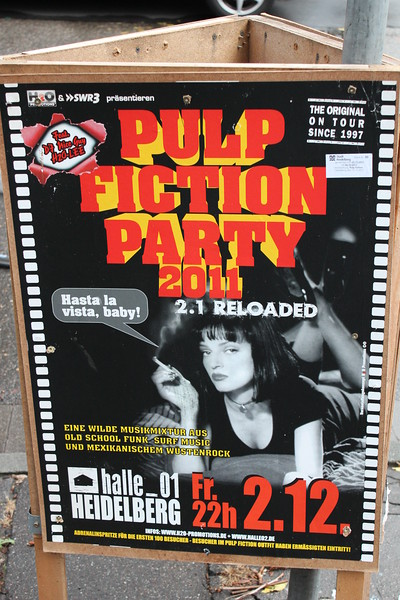 Germany, Heidelburg, Pulp Fiction Party Street Poster