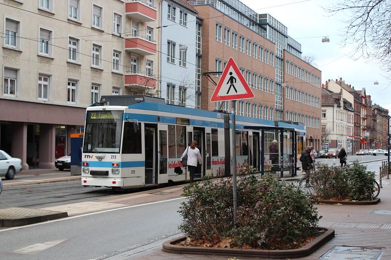 Germany, Heidelburg, Street Tram