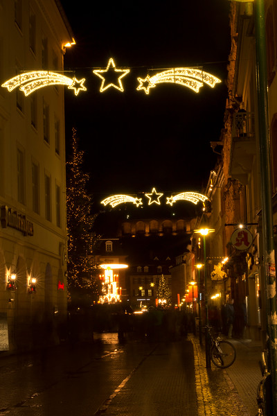 Germany, Heidelburg, Old Town at Night SNM