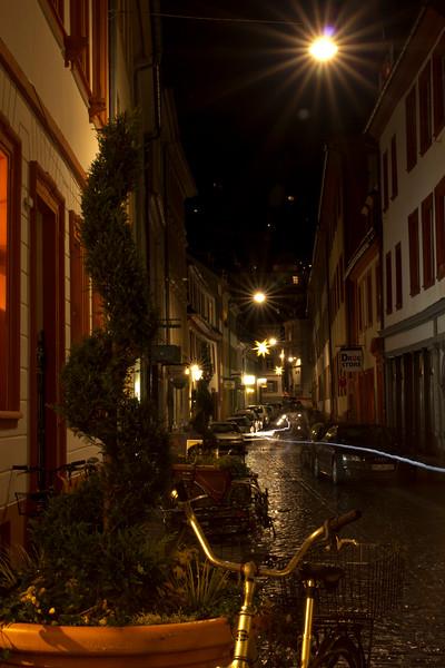 Germany, Heidelburg, Alleyway at Night SNM