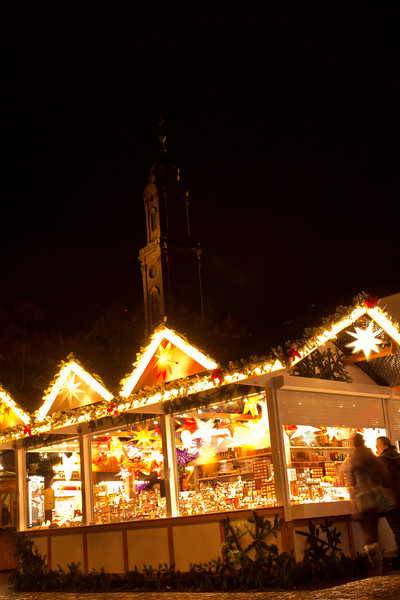 Germany, Heidelburg, Church and Stall at Night SNM