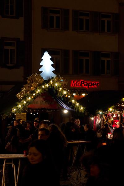 Germany, Heidelburg, Stalls at Night SNM