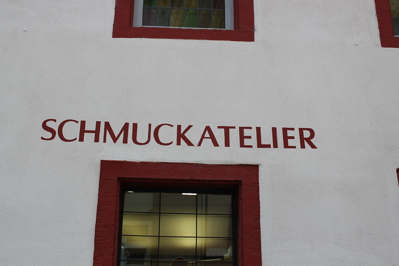 Germany, Heidelburg, Schmuckatelier - ok I like the name - apparently a jewellery store