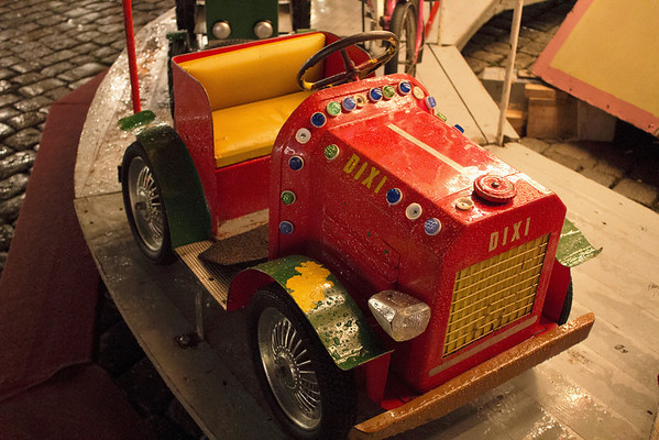 Germany, Heidelburg, Merry Go Round Tractor at Christmas Markets