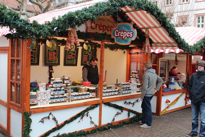 Germany, Heidelburg, Christmas Markets Creperie