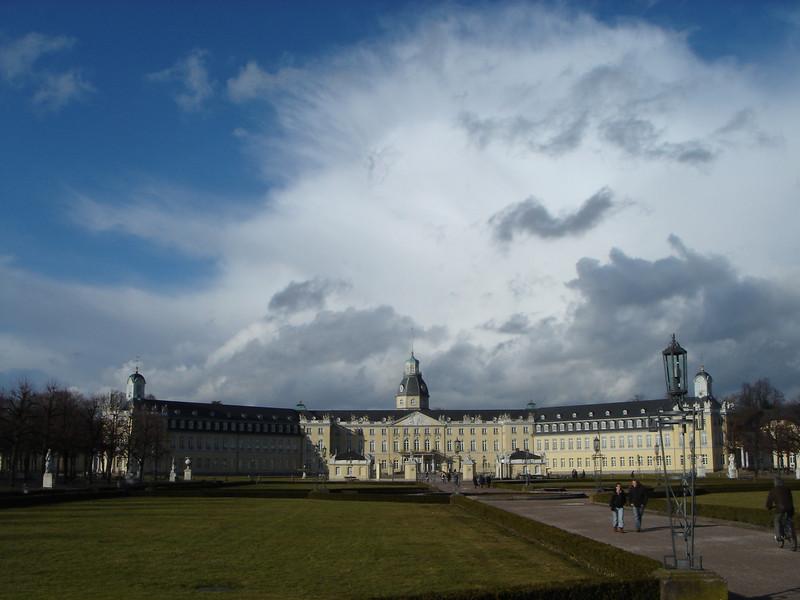 The castle in Karlsruhe
