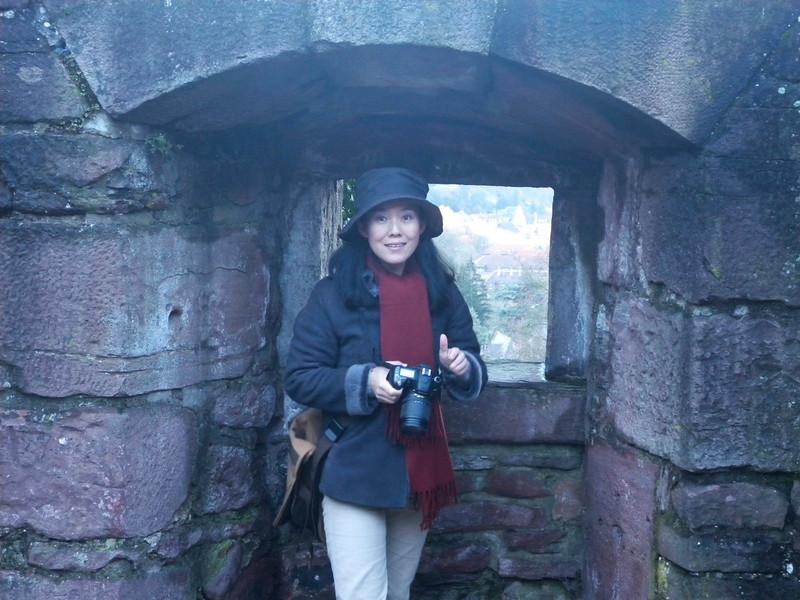 The photographer (Wang Hong) at Heidelberg Schloss (2010), by Dr. Marcus Schuetz.