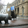 Bulls outside the Frankfurt Stock Exchange