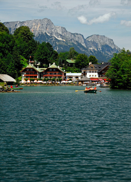 Boaters enjoying Lake Konigssee - Konigssee, Germany