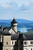 Paraglider and Neuschwanstein Castle, Germany