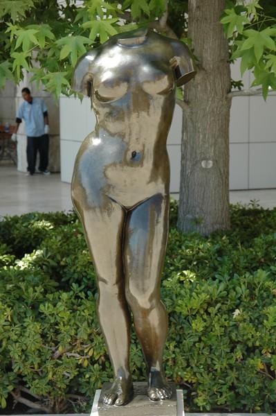 Statue in Getty Center