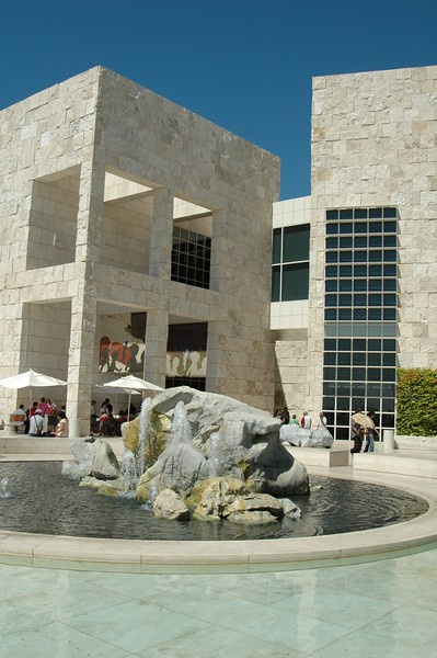 Fountain in Getty Center