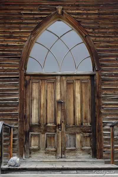 church door, bannack