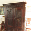 """Sacristal armoire, Brittany, 15th century (according to the dealer in brittany from whom Claude & katie bought it. Put together with wood pegs.<br /><br />54"""" wide<br />25"""" deep<br />73"""" high"""