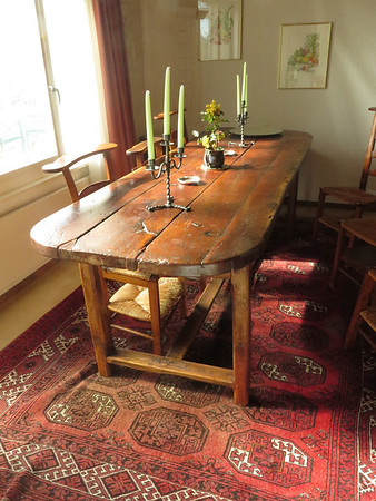 """Farm table from the area of Lyon 17th - 18th, bought in Strasbourg by Katie & Claude.<br /><br />8 ft. long<br />33"""" wide<br />31"""" high"""