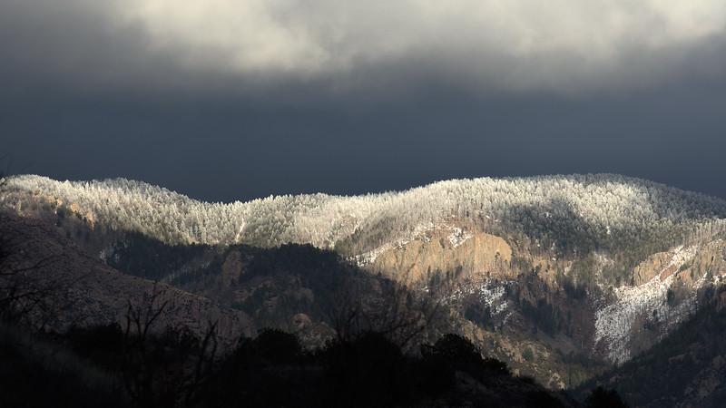 Snow on mountains near home Feb. 2019