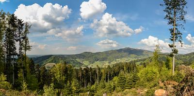 """Der Kandel und das Glottertal / The """"Kandel"""" mountain and the Glotter Valley"""