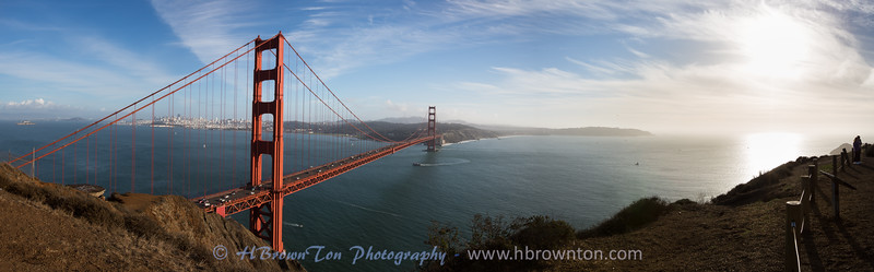 Golden Gate Bridge Panoramic from Battery Spencer