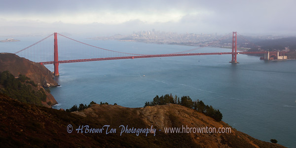 Golden Gate Bridge Light Fog
