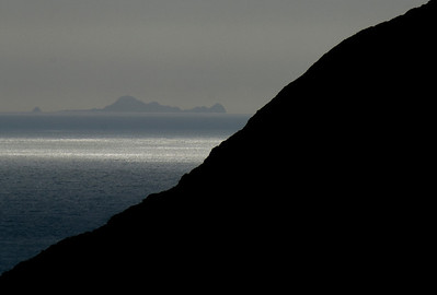 The Farallon Islands in the distance.