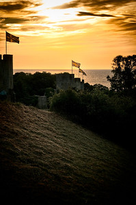 The town of Visby in Sweden, one summer evening