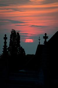 Solnedgång över Visby 2011