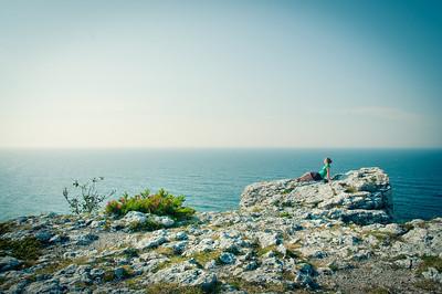 Morgon vid stranden i Visby