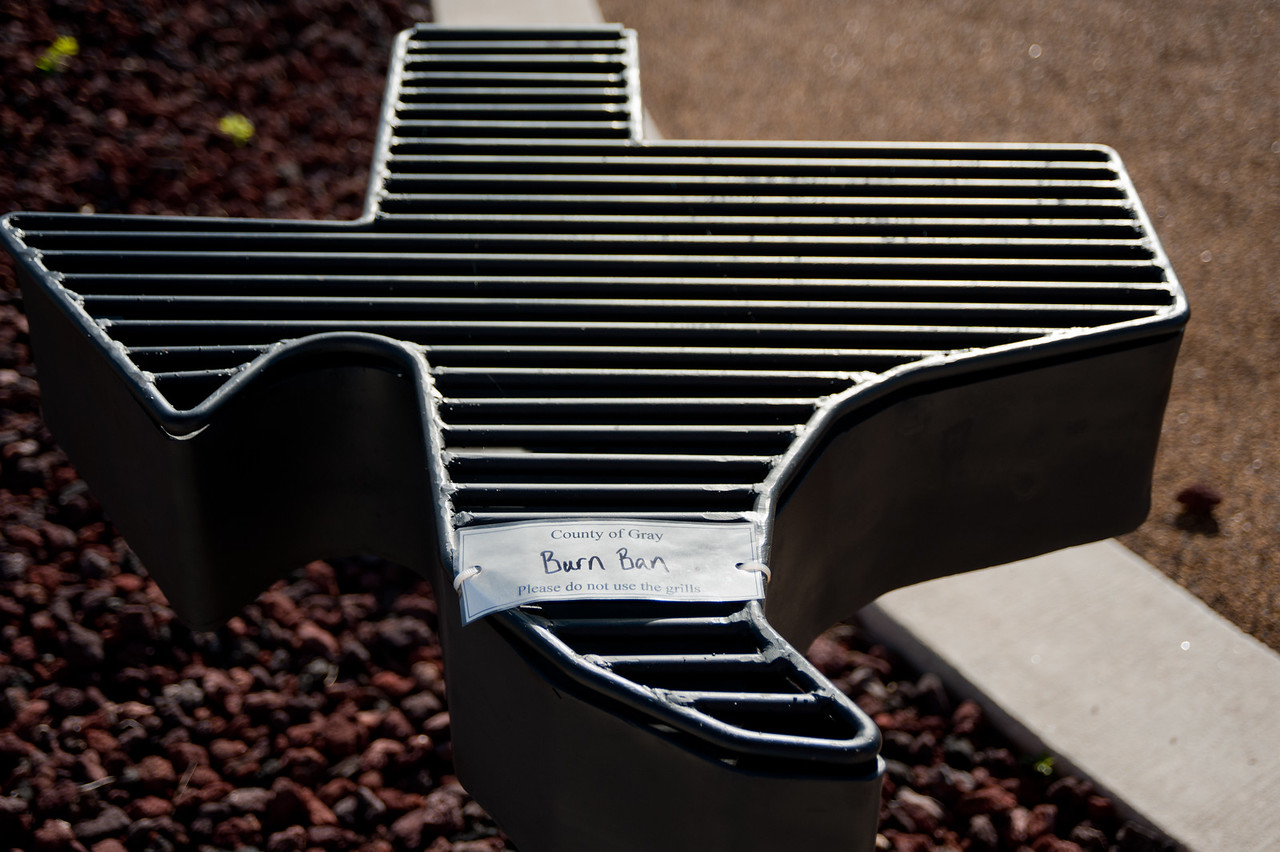A Grill At a Rest Stop in Texas