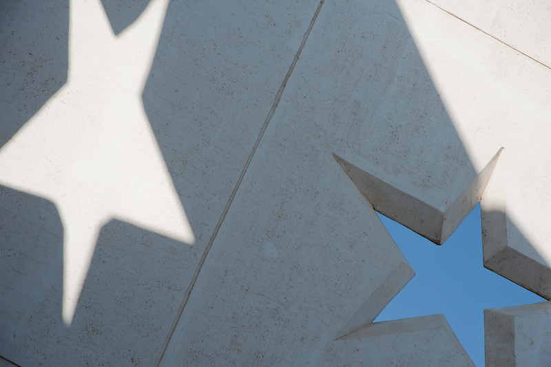 Stars and Shadows at a Rest Stop in Texas