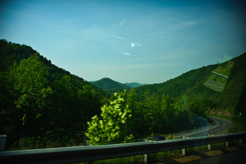 Driving through the mountains of NC