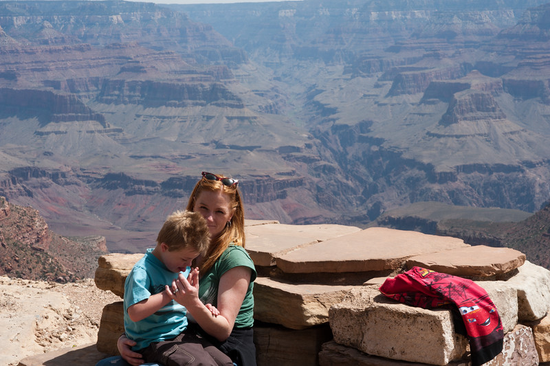 Marisa and Vincent at the Grand Canyon