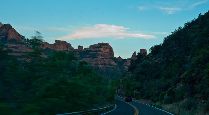 Driving Arizona - Entering Sedona
