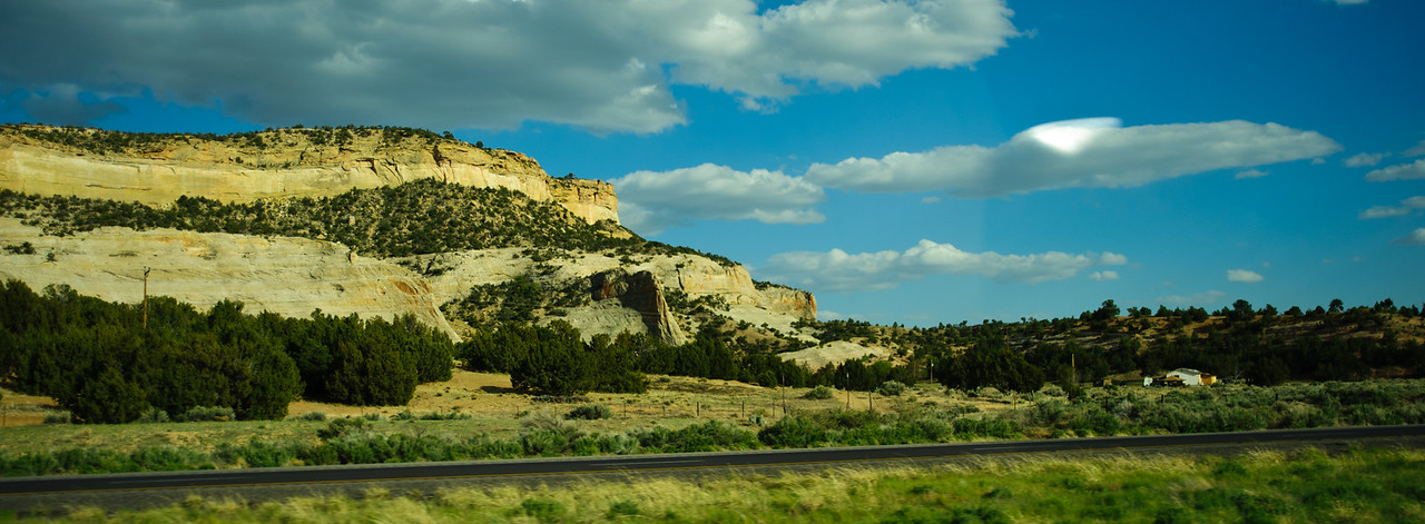 Much of the drive through New Mexico and Arizona was through seemingly endless stretches of beautiful rock formations on both sides of the highway.