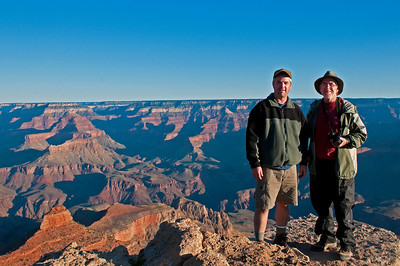 Robb and Dad, Grand Canyon National Park - South Rim, AZ