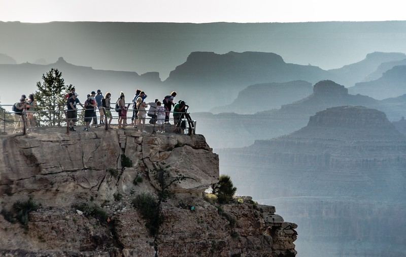 Tourists in Grand Canyon