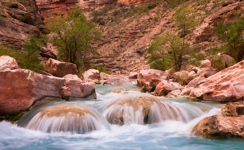 Turquoise Dreams<br /> Havasu Creek, River Mile 156, Colorado River, Grand Canyon National Park<br /> 2009