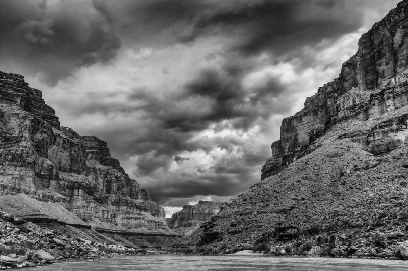Gathering Storm<br /> Above Fossil Canyon, River Mile 124, Grand Canyon National Park, Arizona<br /> 2009