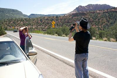 Photo stop outside Sedona