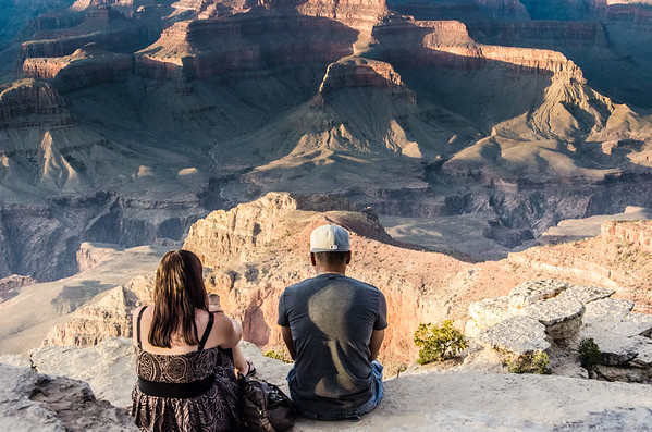 On the edge of the world in Grand Canyon