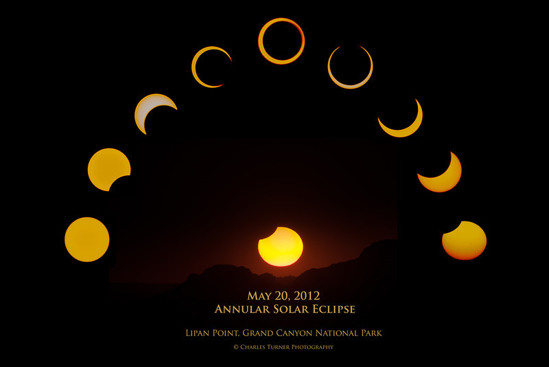 Eclipse Composite<br /> May 20, 2012 Annular Eclipse<br /> Lipan Point, Grand Canyon National Park