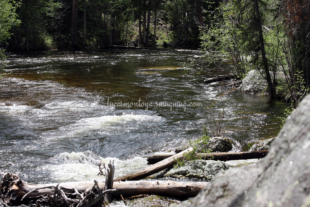 E. Inlet Creek -  Grand Lake, Colorado;  Hiking the E. Inlet Trail - June 2011
