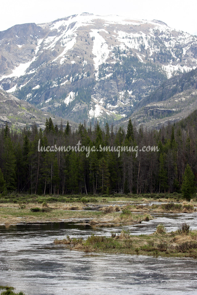 Mt. Craig and E. Inlet Creek - Grand Lake, Colorado;  Hiking the E. Inlet Trail - June 2011
