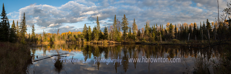 Panoramic of pond in Grand Portage