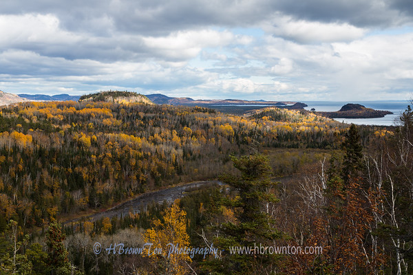 Overlooking Pigeon River flowing into Lake Superior
