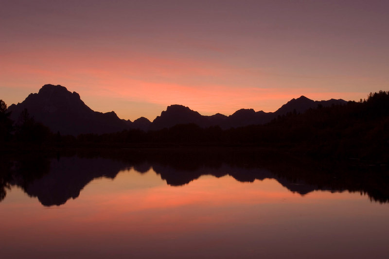 "Oxbow Bend during the ""magic hour"" (more like 5 minutes)."