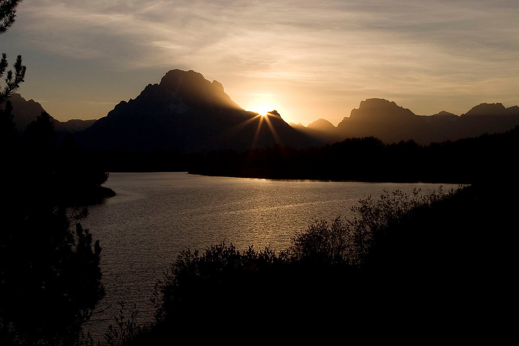 Oxbow Bend Sunset.
