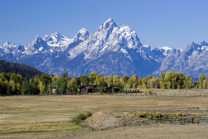The Grand Tetons shot from a Buffalo Valley vantage point.