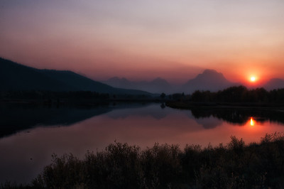Oxbow Bend, a meander of the Snake River